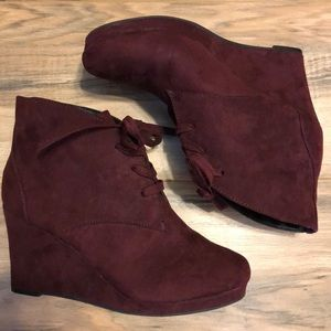 Report Maroon Suede Boots 8